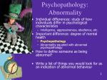 Psychopathology: Abnormality