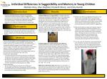 Individual Differences in Suggestibility and Memory in Young Children