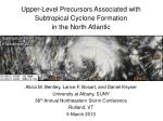 Upper-Level Precursors Associated with Subtropical Cyclone Formation  in the North Atlantic