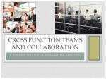 cross function teams and collaboration