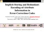 Implicit-Storing and Redundant-Encoding-of-Attribute Information in  Error-Correction-Codes