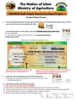 Project Order Process