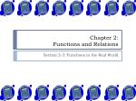 Chapter 2: Functions and Relations