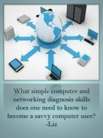 Simple Computer/Networking Diagnosis Skills