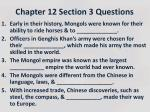 Chapter 12 Section 3 Questions
