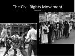 The Civil Rights Movement chapter 26