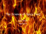 The Science of Spicy Food