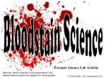 Forensic Science Lab Activity