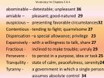 abominable – detestable; unpleasant 36 amiable – pleasant; good-natured 29