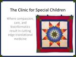 The Clinic for Special Children