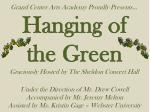 Hanging of   the Green