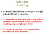 SEM1 4.07 A - Pricing