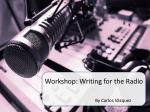 Workshop: Writing for the Radio