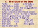 17. The Nature of the Stars