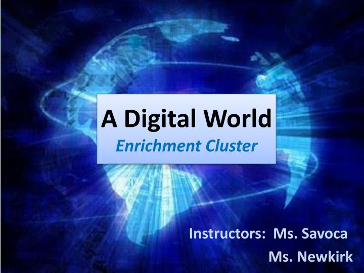 a digital world enrichment cluster n.