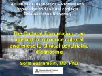A Culture of Diagnostics – Professional knowledge and cultural contexts Oslo  Akershus  University