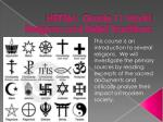 HRT3M:  Grade 11 World Religions and Belief Traditions