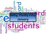 Nifty, Thrifty Fifty January