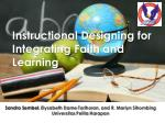 Instructional Designing for Integrating Faith and Learning