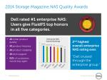 2014 Storage Magazine NAS Quality Awards