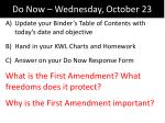 Do Now – Wednesday, October 23