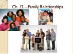 Ch. 12—Family Relationships