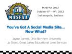 You've Got A Social Media Site… Now What?