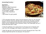 Oriental Egg Fried Rice Ingredients 60g cup of rice Handful of cup of frozen peas