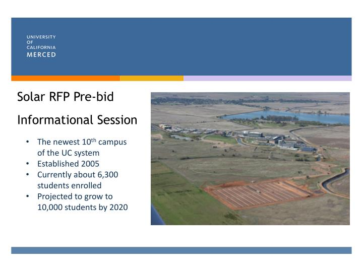PPT - Solar RFP Pre-bid Informational Session PowerPoint