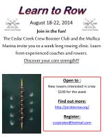 Learn to Row August  18-22, 2014