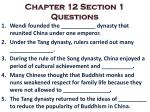 Chapter 12 Section 1 Questions
