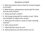 Questions on Ruth