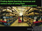 Finding digital ( learning ) resources and various ways of using them
