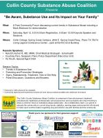 Collin County Substance Abuse Coalition Presents