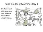 Rube Goldberg Machines Day 1