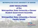 Two Resolutions from the Two Largest Constituent Groups on Campus