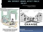 How Interest Groups Affect Public Policy