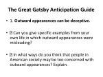 The Great Gatsby Anticipation Guide