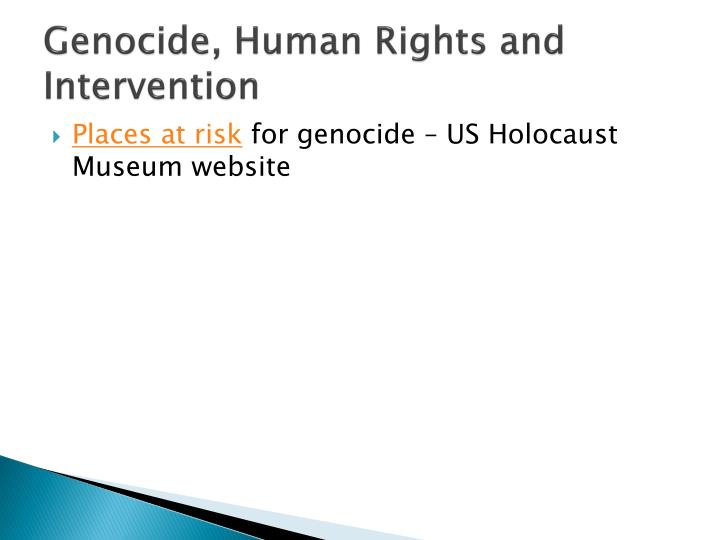 genocide human rights and intervention n.