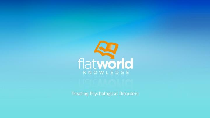 treating psychological disorders n.