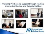 Providing Psychosocial Support through Training,  Information Sharing, and Capacity Building