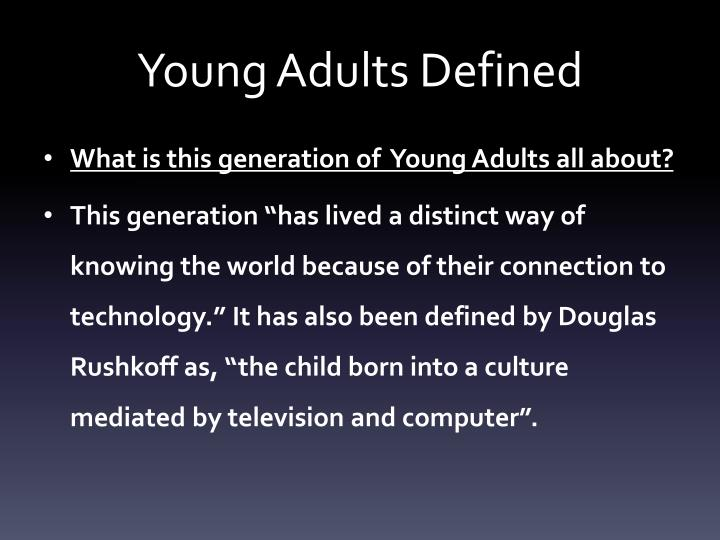 young adults defined n.