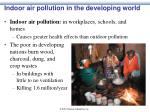 Indoor air pollution in the developing world
