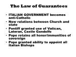 The Law of Guarantees