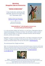 2-day introduction workshop with  BULGAN, shaman from Gobi-Altai 16-17 November 2013