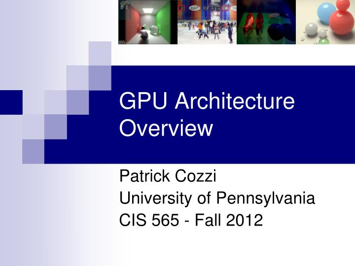 gpu architecture overview n.