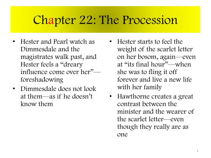 ch a pter 22 the procession n.