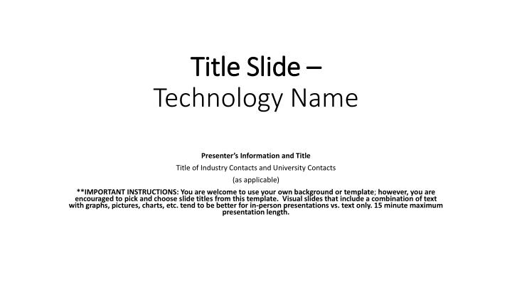 title slide technology name n.