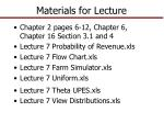 Materials for Lecture
