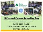 Empowering 1,100 high school Students  to own their economic success Save the date